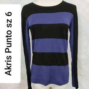 Akris Punto bold striped sweater *L
